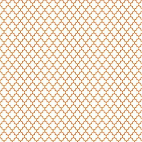 quatrefoil orange on white - small