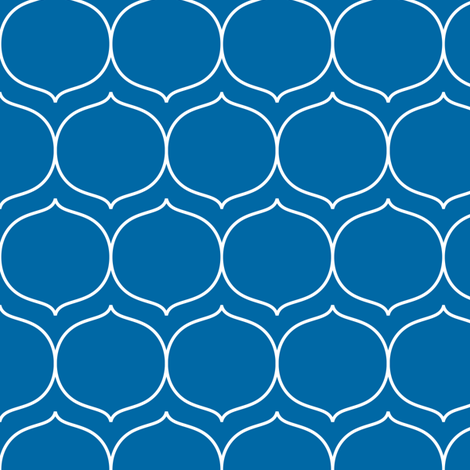 sugarplum royal blue fabric by misstiina on Spoonflower - custom fabric