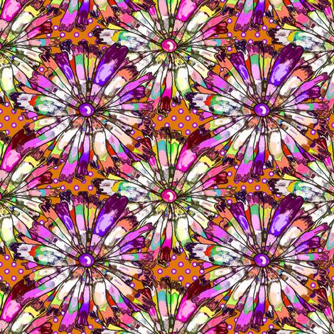 JOYFUL AND DOTTY Orange Clay fabric by paysmage on Spoonflower - custom fabric