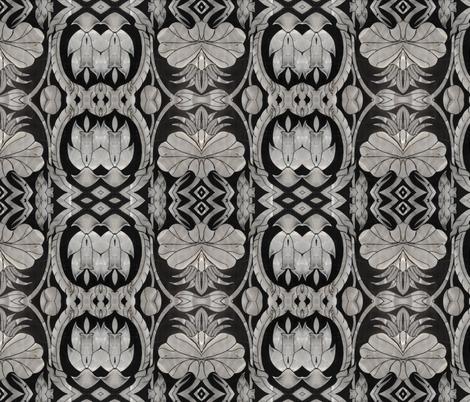 metallic floral 6 fabric by kociara on Spoonflower - custom fabric