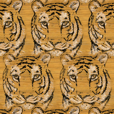Walnut Tiger fabric by eclectic_house on Spoonflower - custom fabric