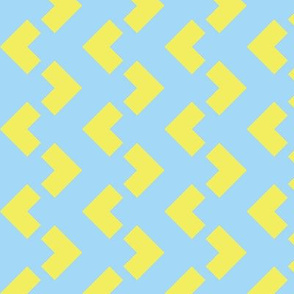 Chevron nested two frequency blue - blue - yellow