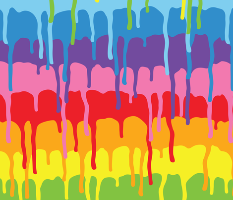 Rainbow paint fabric by dmitriylo on Spoonflower - custom fabric