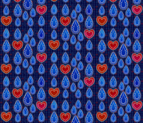 Love and Tears fabric by ladyrattus on Spoonflower - custom fabric