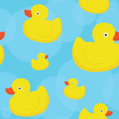 Rubber duck (blue) fabric by dmitriylo on Spoonflower - custom fabric
