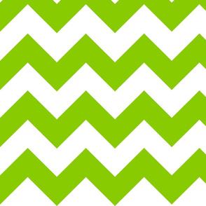 medium green chevron