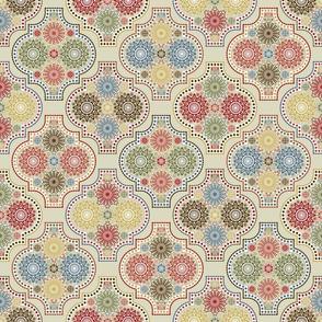 EARTHTONE Tile Mandala-ed
