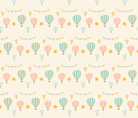 Hot Air Balloons fabric by kgiacalone on Spoonflower - custom fabric