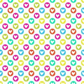 Colorful hearts multicolor