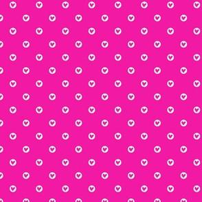 Cute little hearts in pink