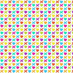 Hearts and kisses multicolor