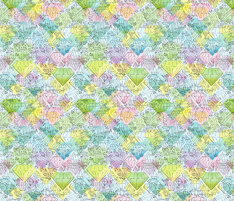 Crystals and Diamonds fabric by vinpauld on Spoonflower - custom fabric
