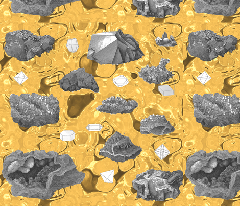 rocks fabric by craftyscientists on Spoonflower - custom fabric