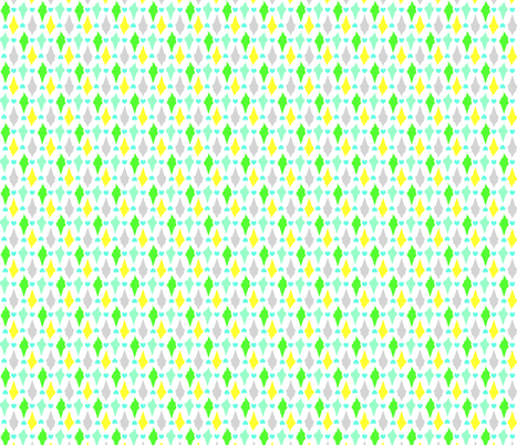 Ice-cream Cones in green shades fabric by claudiaowen on Spoonflower - custom fabric