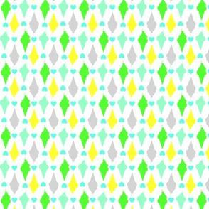 Ice-cream Cones in green shades