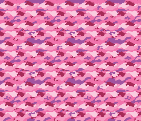 Unicorn Camo Pink (small) fabric by ophelia on Spoonflower - custom fabric