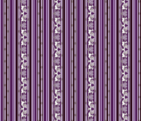 Celtic Hearts and Greyhounds, purple and white stripes fabric by artbyjanewalker on Spoonflower - custom fabric