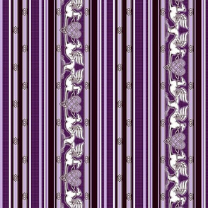 Celtic Hearts and Greyhounds, purple and white stripes