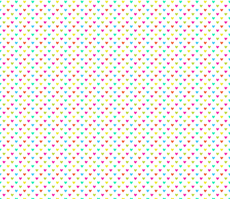 Love Hearts multicolor fabric by claudiaowen on Spoonflower - custom fabric