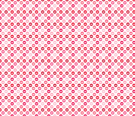 My bright lips in shades of red fabric by claudiaowen on Spoonflower - custom fabric