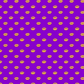 My lips in pink in yellow and purple
