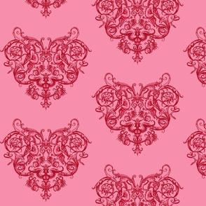 Grotesquerie Heart Pink