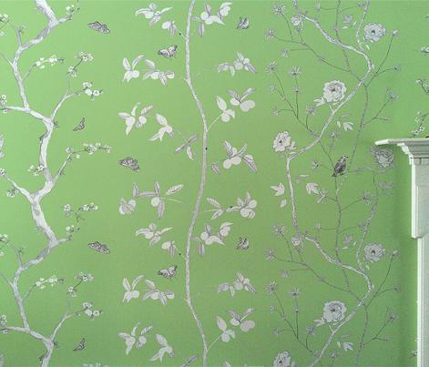 Jenny Modern peony on fresh green