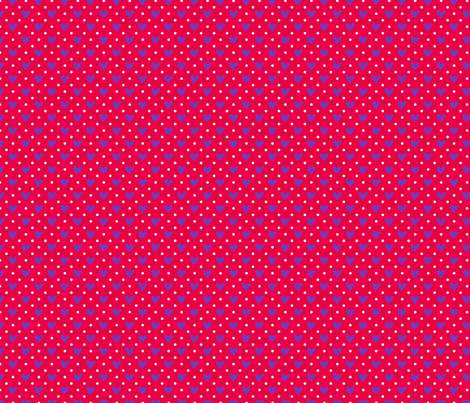 Sweet Hearts in red fabric by claudiaowen on Spoonflower - custom fabric
