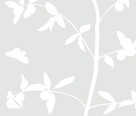 Jenny Simple kumquat on haze fabric by domesticate on Spoonflower - custom fabric