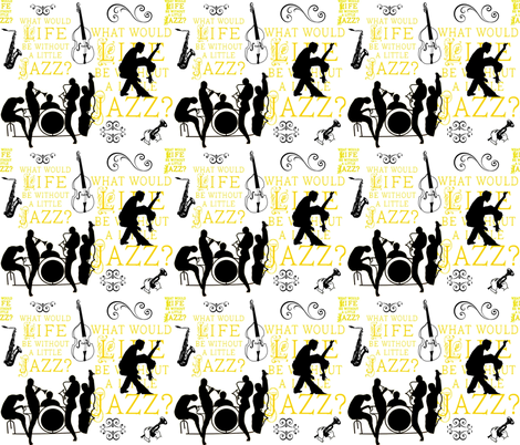 The Jazz Life fabric by firedryad1 on Spoonflower - custom fabric