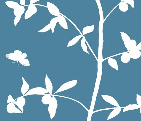 Jenny Simple Kumquat on pool fabric by domesticate on Spoonflower - custom fabric