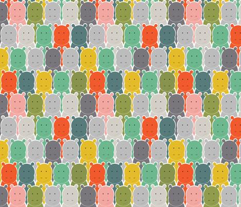 Baby Hippo fabric by megan_barnes on Spoonflower - custom fabric
