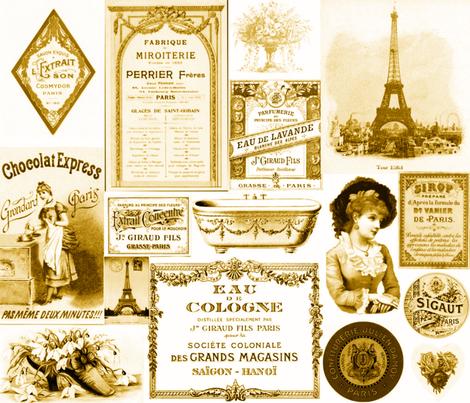 PARIS IN BRONZE fabric by bluevelvet on Spoonflower - custom fabric
