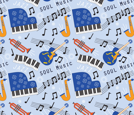 The_Blues fabric by christine_gibson on Spoonflower - custom fabric