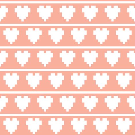 pixel hearts and lines fabric by dmitriylo on Spoonflower - custom fabric