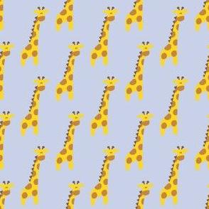Giraffes on blue