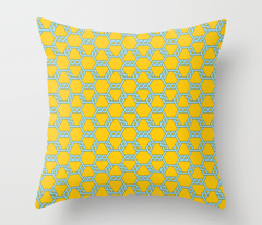Pastel Blue-Gold Freeman Lattice
