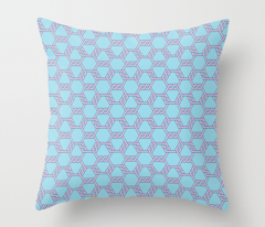 Pastel Purple-Blue Freeman Lattice