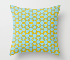 Pastel Gold-Blue Freeman Lattice