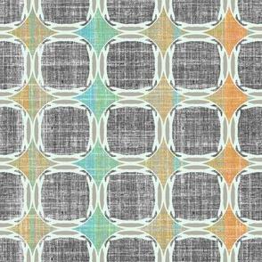 Linen Mod Squares Gray Grid