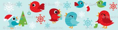 Holiday Birdies Blue