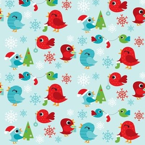 Holiday Birdies Blue