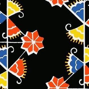 Ukrainian Geo-Floral Block Print