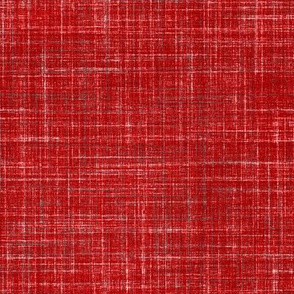 Linen in Dark Watermelon Red