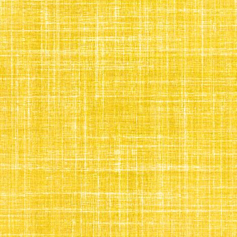 Linen in Sunshine yellow fabric by joanmclemore on Spoonflower - custom fabric