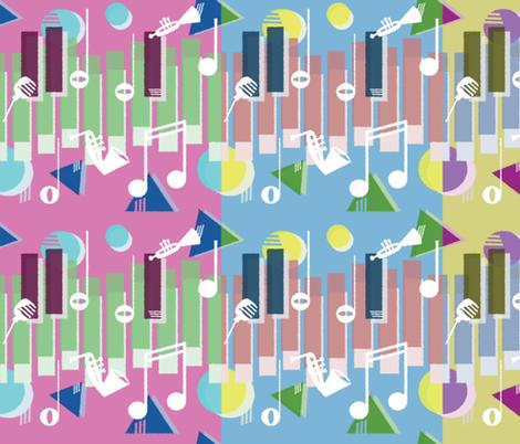 Jazz Keys in Three fabric by emilykariya on Spoonflower - custom fabric