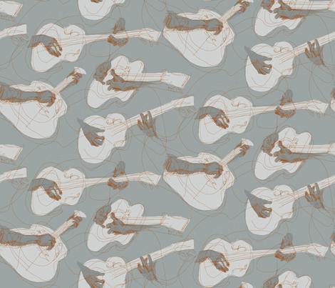 Delta Blues fabric by mariaspeyer on Spoonflower - custom fabric