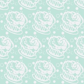 Creamy cupcakes in blue berry
