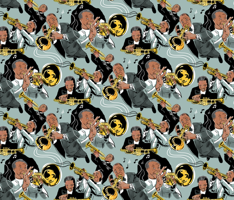 Tribute to Louis fabric by vinpauld on Spoonflower - custom fabric