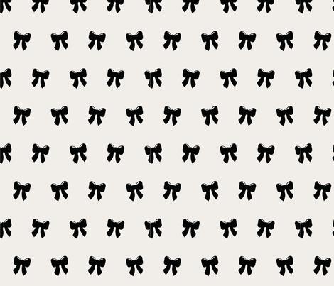 bows_creamy fabric by darlingdearest on Spoonflower - custom fabric